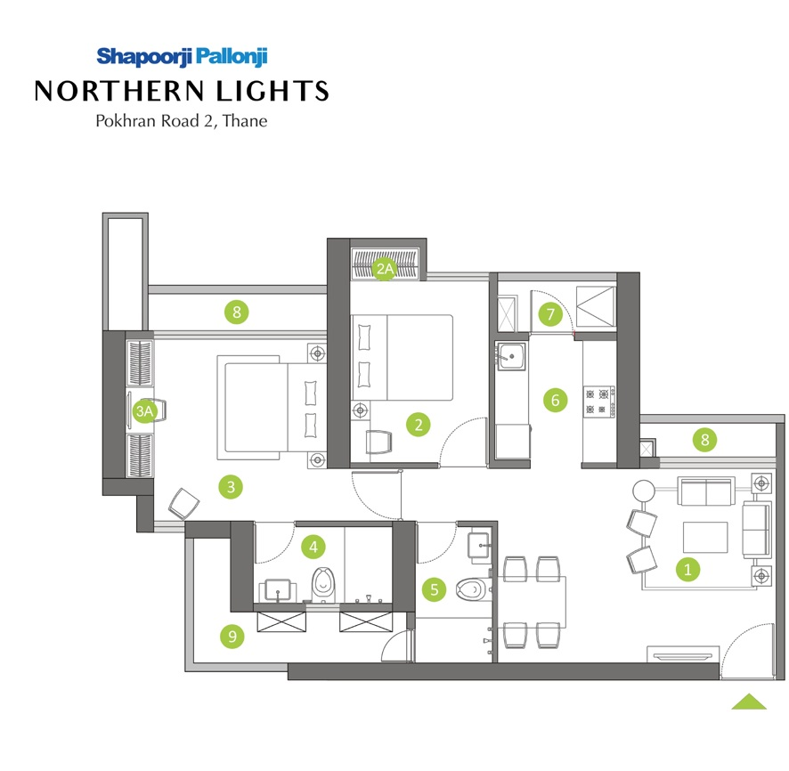 2 bhk flat northern lights